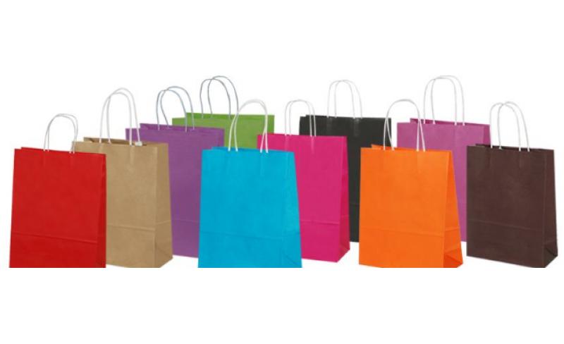 ae9b0e6f65 οικολογικές χρωματιστές ατύπωτες Τσάντες χάρτινες οικολογικές σακούλες  χωρίς εκτύπωση