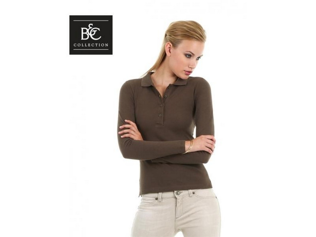 46763da7c45 Γυναικείο Μπλουζάκι polo μακρυμάνικο B&C κωδ.52042